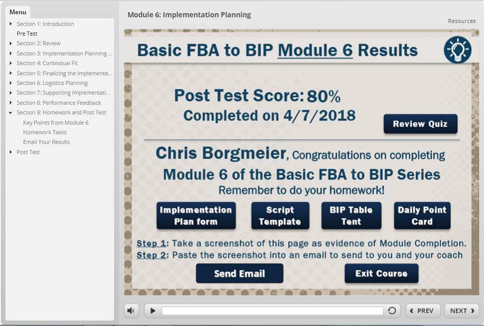 Fba Template | College Courses Basic Fba To Bip
